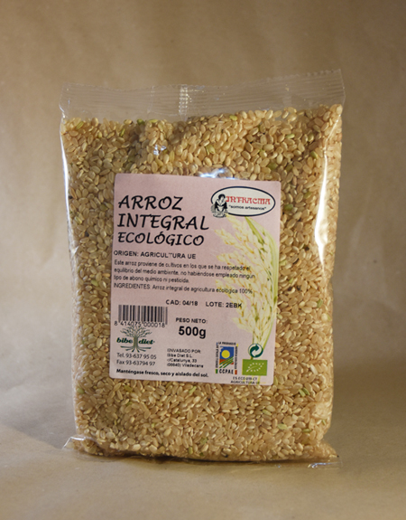 arroz, integral, ecológico, 500, gramos, intracma