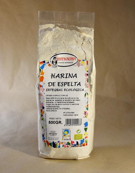 Harina, integral, de espelta, ecológica, 500gr