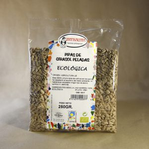 Pipas, girasol, peladas, ecológico, 250gr