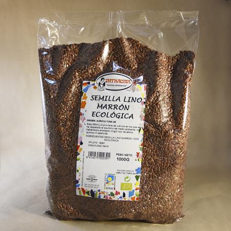 Semilla, lino, marrón, ecológica, 1kg
