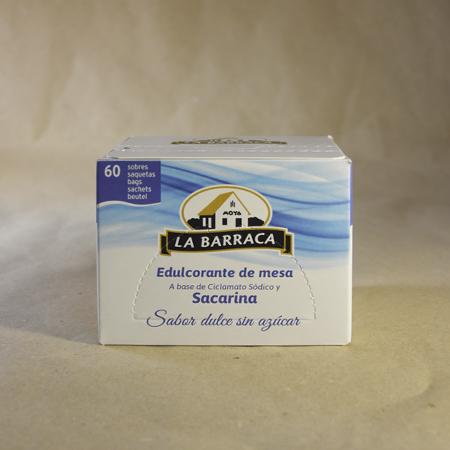 Edulcorante, Sacarina, 60, sobres