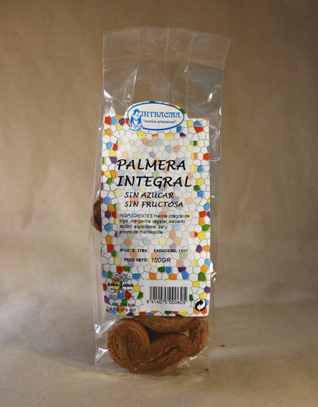 Galletas, palmera, integral, sin azúcar, fructosa, 100gr