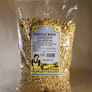 Muesli, base, familiar, sin, azúcar, 1kg