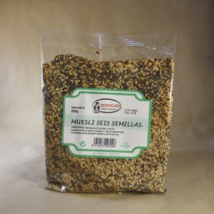 Muesli, seis, semillas, 250gr