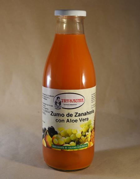 zumo, zanahoria, aloe vera
