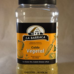 Caldo vegetal, especias, la barraca