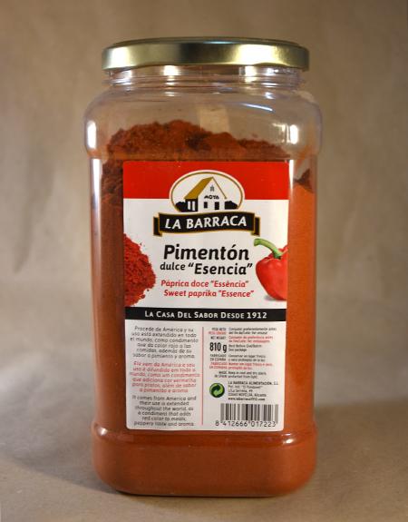 pimenton dulce esencia 810gr, especias, la barraca