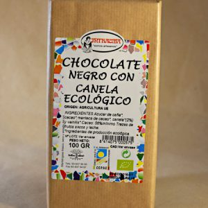chocolate canela ecologico, 100gr