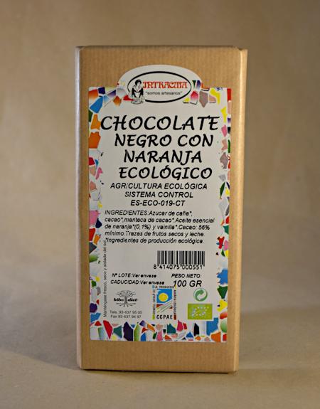 chocolate naranja ecologico, ecologico, intracma