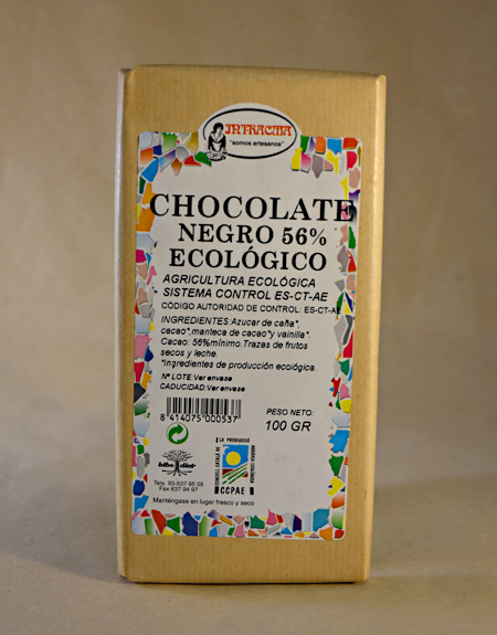 chocolate negro ecologico, ecologico, intracma