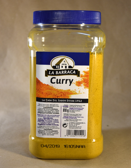 Curry, 810gr, especias, la barraca