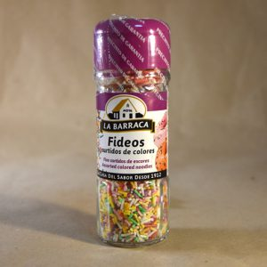 Fideos de colores, 55gr, postres, la barraca