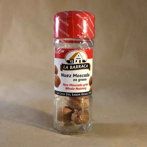 nuez moscada en grano, 17gr, especias, la barraca