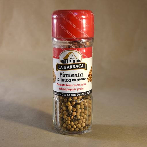 Pimienta blanca, en grano, 30gr, especias, la barraca