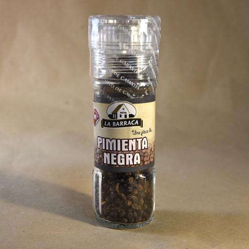 Pimienta negra en grano, molinillo, 40gr, especias, la barraca
