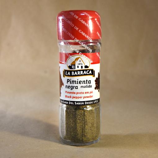 Pimienta negra molida, 25gr, especias, la barraca